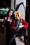 Lust Sneaks up on Ed, Fullmetal Alchemist Cosplay by firecloak