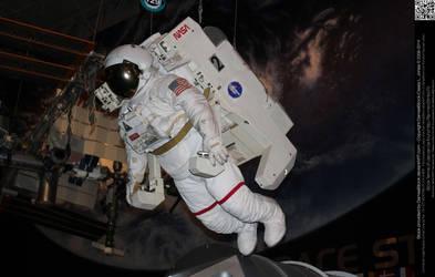 Astronaut with Jet Pack in Orbit by DamselStock