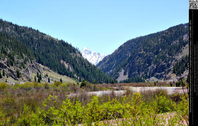 Mountain Landscape from Durango Silverton Railroad by DamselStock