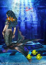 Little Mermaid Blue Hair by NicknameFrancyBrt