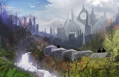 Fantasy Landscape : Speedpainting Video by dave-simon