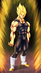 Vegeta Collab with LuisLarrm by carapau