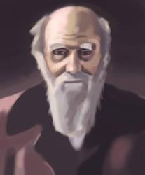 Charles Darwin by gentsai