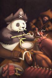 Another Pirate Panda by gentsai