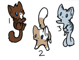 5 point Cat adopts by The-Chella-Sisters