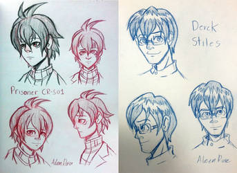 CR-S01 and Derek Sketches by Aileen-Rose