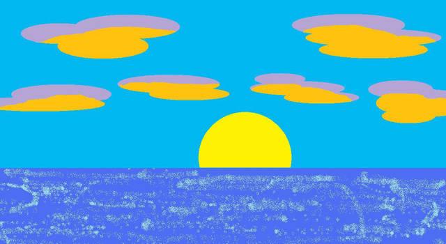 Beach Sunset by Atea1793
