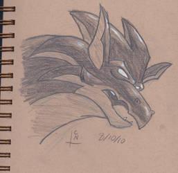 Boudicca Sketch by lvl27-Cubone