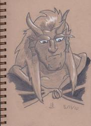 Gabriel Sketch by lvl27-Cubone
