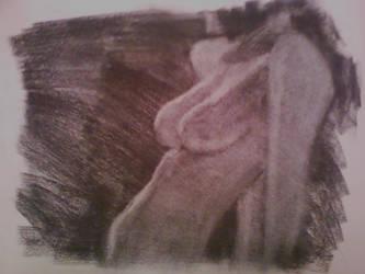 Life Drawing - charcoal 02 by lvl27-Cubone