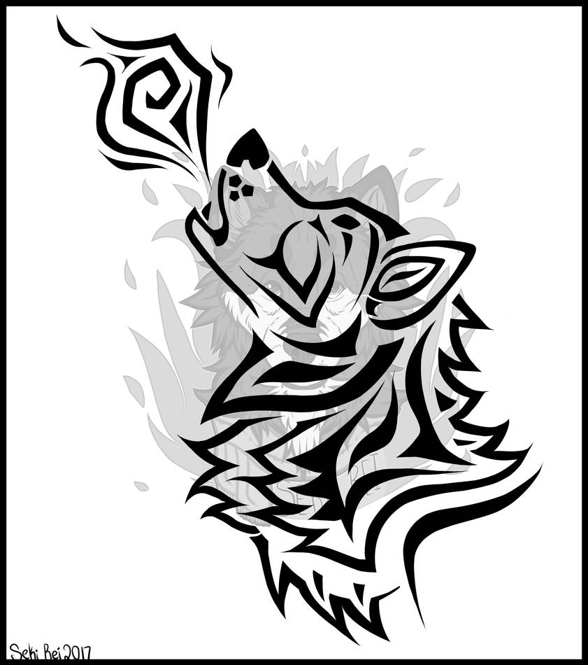 Tribal Wolf Tattoo Design By Sekiirei On Deviantart