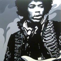 Hendrix balck and white by purposemaker