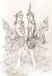 Kinaris - Pencil Sketch by Klyph
