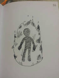 actually burning man -Burn by oxone