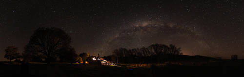 Milky Way Panorama by Bobby01