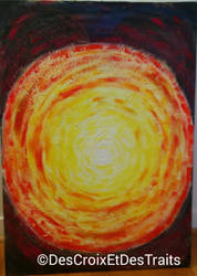 Explosion - Broken painting, Mixed media, 2014. by DesCroixEtDesTraits