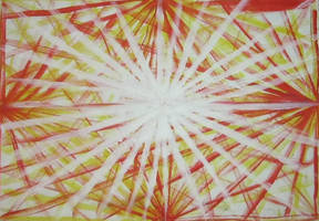 Rising sun part 1, Acrylic on paper, 2014. by DesCroixEtDesTraits