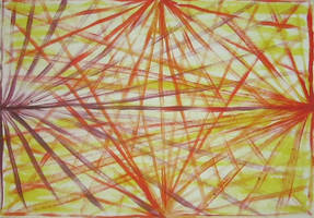 Rising sun part 2, Acrylic on paper, 2014. by DesCroixEtDesTraits