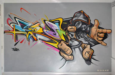 graffiti character by thewritebros