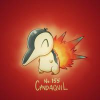 Cyndaquil by NerdyGeekyDweeb