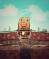Diglett by NerdyGeekyDweeb