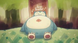 Snorlax by NerdyGeekyDweeb