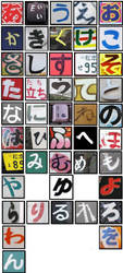 My Own Hiragana Chart by JeanneABeck