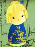 Kokeshi girl by sparkica