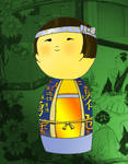 Kokeshi boy by sparkica