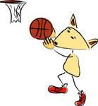 Erik playing basketball by sparkica