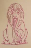 lion character design sketch by snuapril01