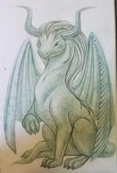 dragon illustration sketch by snuapril01