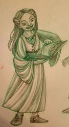 girl reading a book by snuapril01