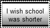 Stamp: I wish school was shorter by MandyLandy62