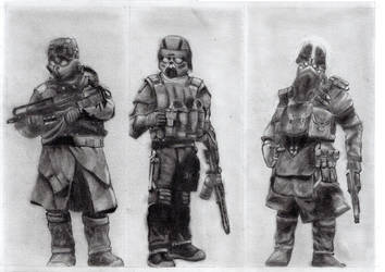 Helghast soldiers by MaxSteiner