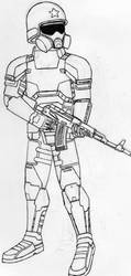 Sci-fi Soviet Rifleman by MaxSteiner