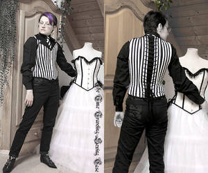 Striped Corset Vest by Stahlrose
