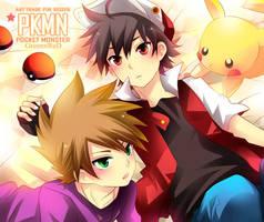 PKMN - GreenxRed by kaokmchan