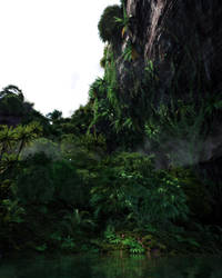 A cliff somewhere in Oceania v2 by Tangled-Universe
