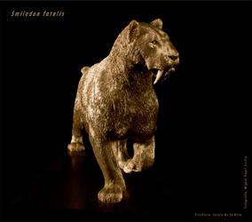 Smilodon fatalis sculpture by serchio25