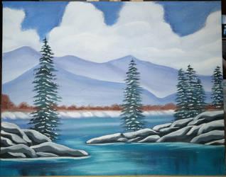 Winter Lake by EternallyExhausted