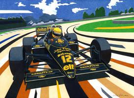 Senna in Brazil by klem