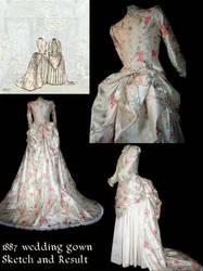 1887 wedding dress by debellespoupees