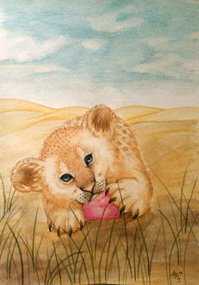 Lion cub by BarboraDragon