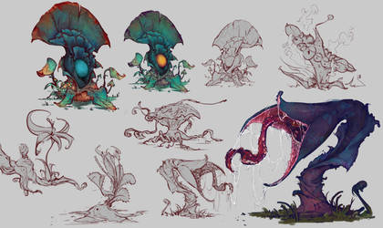 Alien plants concept by Coffeeater