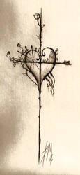 Tattoo cross by SteveM182