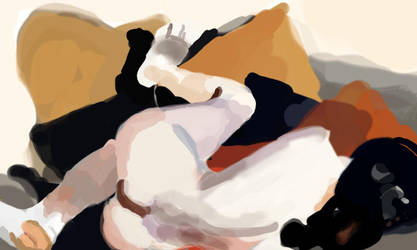 Reclining Nude by Edward Hopper by AlphaProject