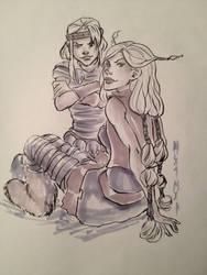 The girls in grey by mianewarcher