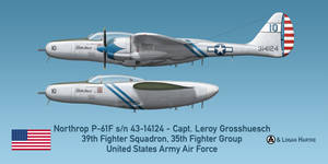 Northrop P-61F - Little Girl - Capt. Grosshuesch by comradeloganov
