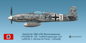 Photo-reconnaissance Heinkel He 100D-4/F3, Sicily by comradeloganov
